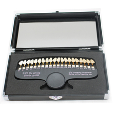 1Set Dental Bleaching Comparator Dental tooth 20 Colors tooth whitening 3D Shade Guide Color Comparator Mirror Dentistry Dentist 1 pc dental base light tri spectra shade match tooth color colorimetric light for teeth shade matching tooth guide