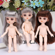 Reborn 13 Moveable Jointed 15cm 1/8 Surprise Blyth Dolls lols Toys BJD Baby Doll Naked Nude Women Body Dolls for Girls Gift Toy(China)