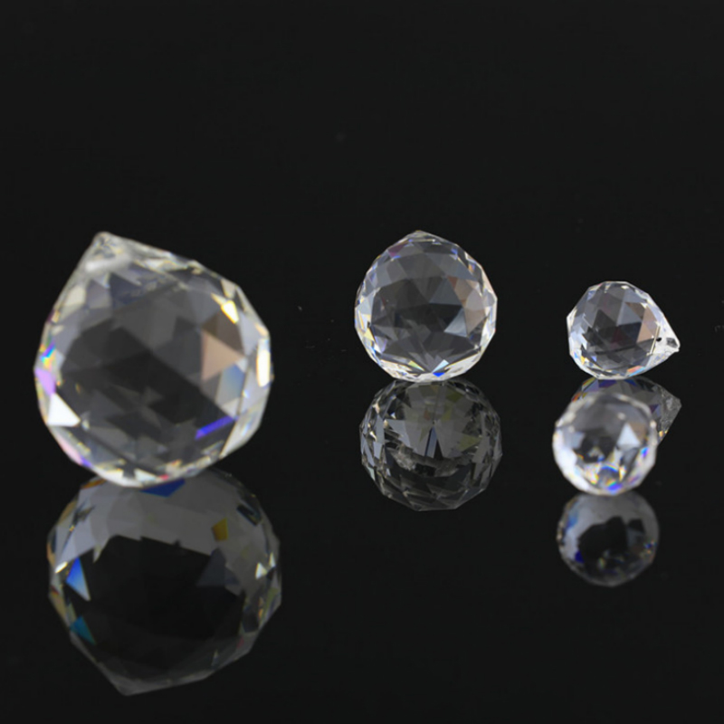 20mm/30mm/40mm 1 Piece Clear Crystals Glass Ball For Chandeliers Shinning Prism Suncatcher For Sale