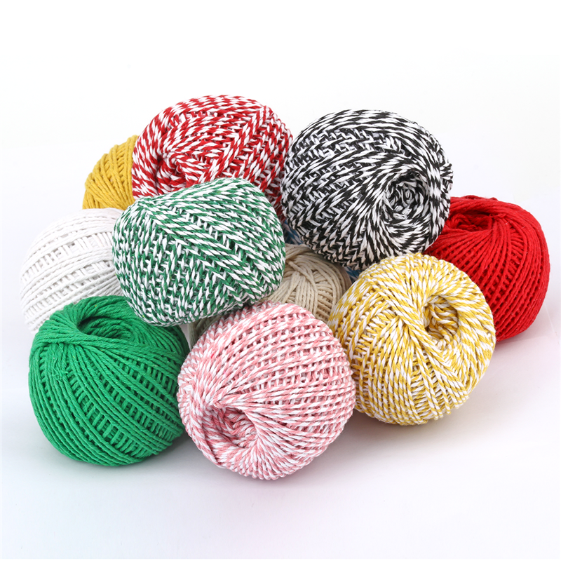 100m 1.5mm-2mm Double Colors Cotton Rope DIY Handmade Crafts Weave Cords Accessories Mason Jar Decors Gifts Wrapping Tag Cord