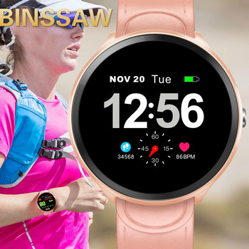 цена на BINSSAW Women Smart Watch Men Heart Rate Monitor Blood Pressure Fitness Tracker Smartwatch Sport Smart Clock Watch IOS Android