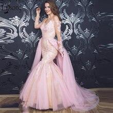 Милое розовое кружевное вечернее платье с объемным цветком со