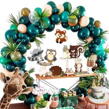 METABLE Forest Theme Party Decoration 147Pcs10In Green Transparent Balloon Garland Arch Kit Inflator Pump Dino Birthday Country