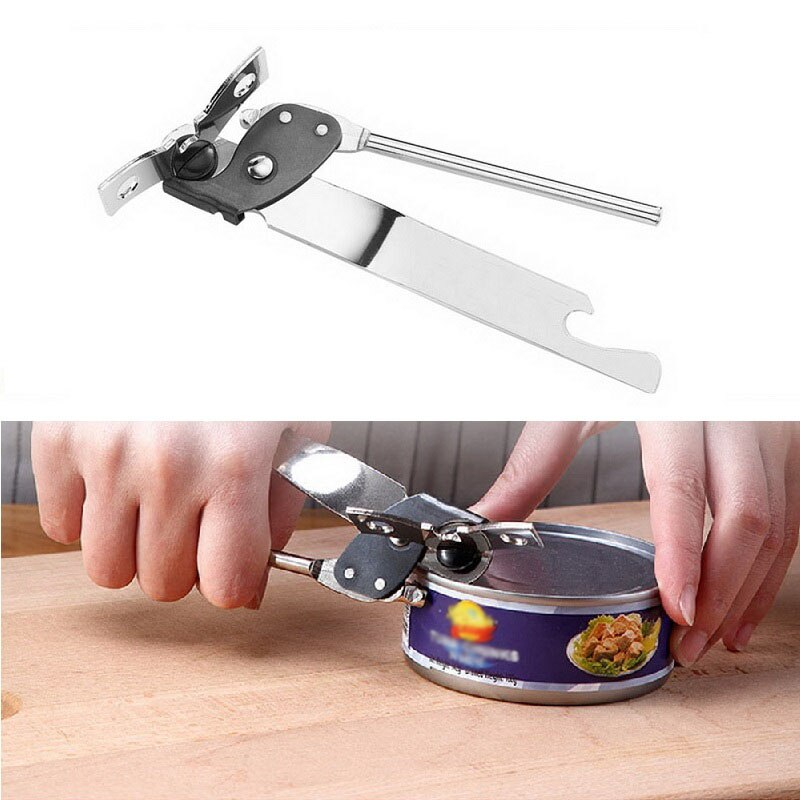 1PC Professional Ergonomic Manual Can Opener Kitchen Tools Manual Stainless Steel Can Opener Side Cut Manual Can Opener