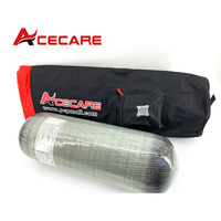 AC10908005 Acecare 9L CE 30Mpa PCP Paintball Tank For Target Shooting Rifle Airgun Carbon Fiber Gas Cylinder With Portable Bag