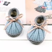 Fashion Newborn Crib Shoes Baby Boy Girl shoes Winter Warm Knitting Boots Socks Shoe Covers New