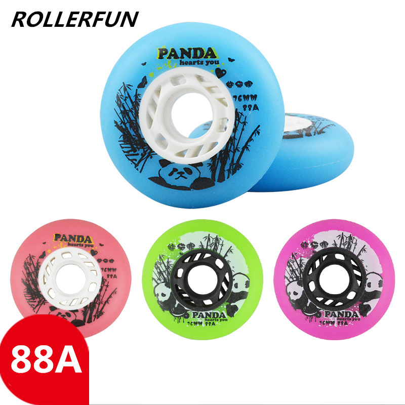 Durable Frosted Original PANDA Inline Skating Wheel With 88A Hardness For Sliding Wheels Braking 80mm 76mm 72mm Fat Wwheel