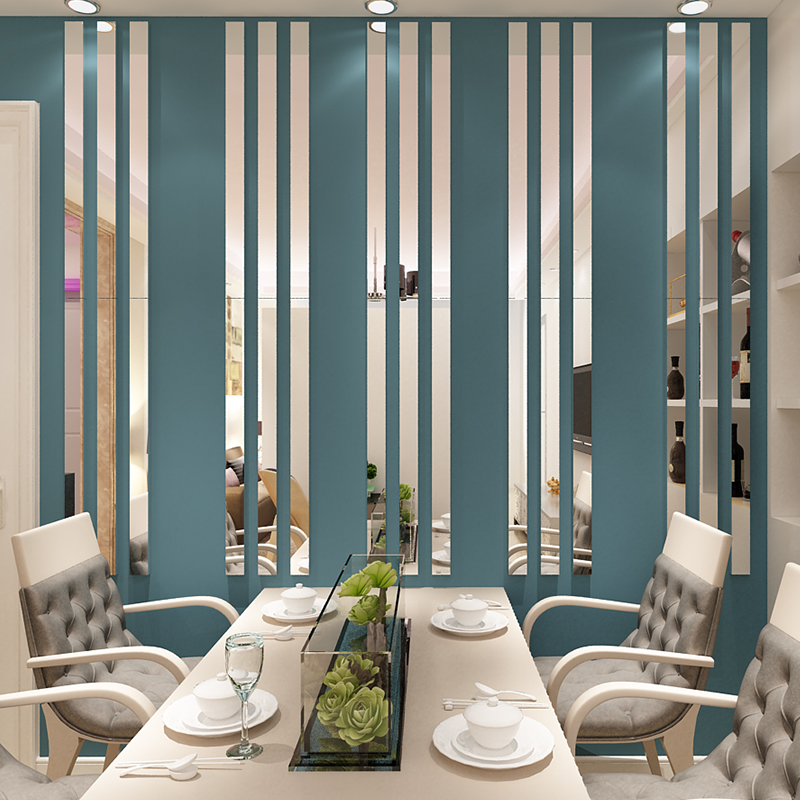 Simple Lines Acrylic 3d Wall Stickers, Wall Decor Stickers For Dining Room