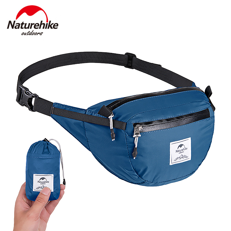 Naturehike Lightweight Portable Water-resistant Waist Pack Travel Outdoor Sports Bag Hiking Running Mini Waist Bag 30D Nylon