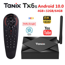 Tanix TX6S Android 10,0 Smart TV BOX 4GB 64GB Allwinner H616 H.265 8K 2,4G & 5G Dual WiFi 4K Media player Google Spielen Set top Box(China)