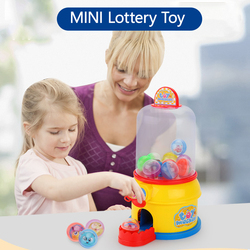 Mini Automatic Lottery Machine Simulation Children's Dollhouse Gashapon Machine Girl Toy Birthday Gift