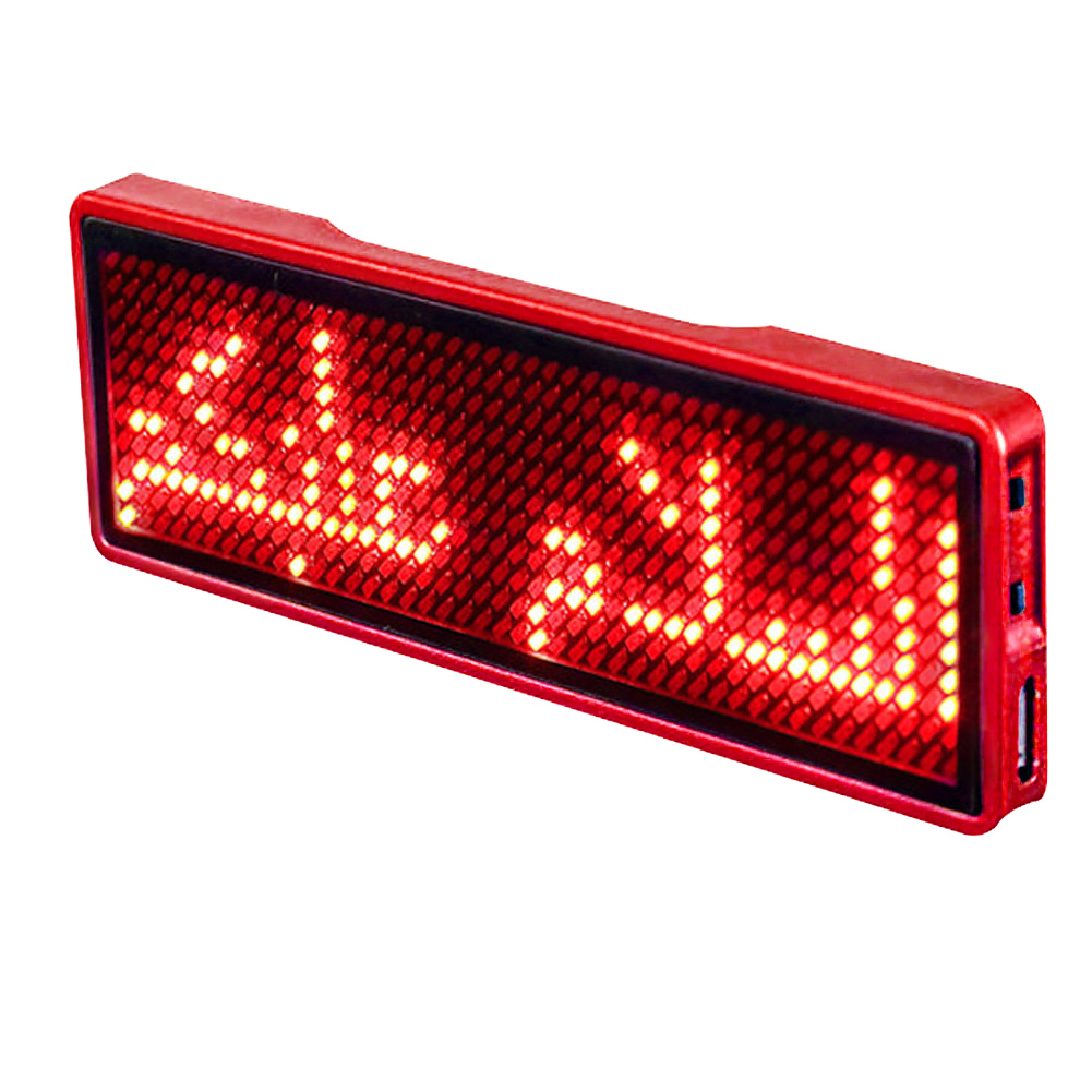 LED Mini Digital Programmable Scrolling Rechargeable Name Message Tag Badge Sign Whosale & Dropship