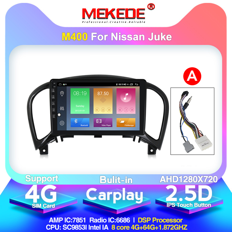 MEKEDE 2din dsp ips 4+64g For Nissan juke 2010 2014 Car Radio Multimedia Video Player Navigation GPS Android 10.0 support dvr|Car Multimedia Player| |  -