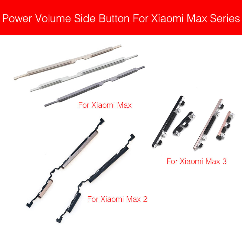 On Off Power & Volume Button Flex Cable For Xiaomi Mi Max 2 3 Volume Control Power Side Button Replacement Repair Parts