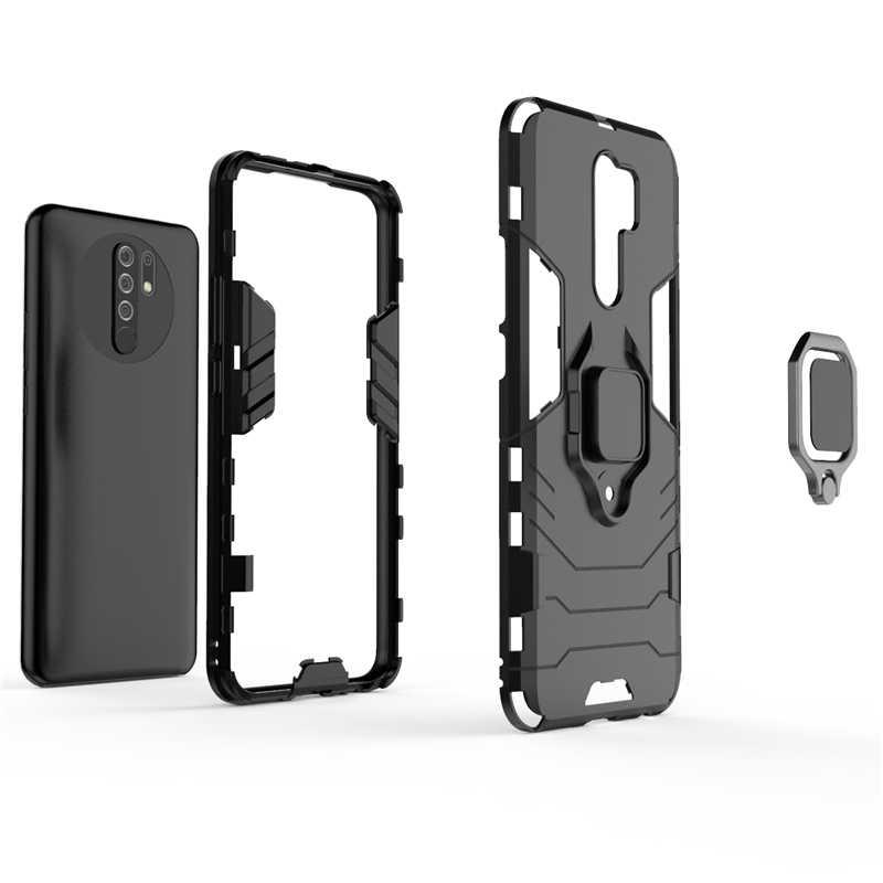 Bao Da Dành Cho Xiaomi Redmi 9 Ốp Lưng Cho Redmi Note 8 9 Pro Giá Đỡ Chiếc Nhẫn Từ Dành Cho Note 8 9 S 9 S Mi Note 10 Lite Redmi 9 Fundas