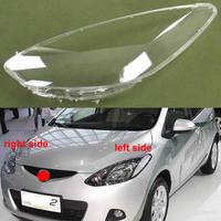 Farol escudo da lâmpada sombra transparente capa de vidro do farol capa lente vidro para mazda 2 m2 2008 2009 2010 2011 2012