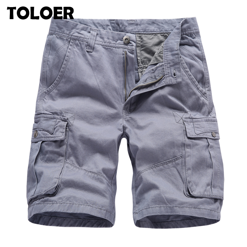 Fashion Brand Men''s Cargo Shorts New Summer Men Cotton Short Men Tooling Shorts High Quality Men Casual Knee-length Short Pants