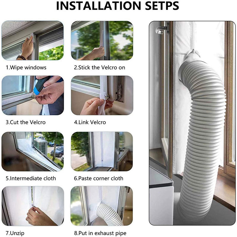 Airlock Sealing Portable Mobile Air Conditioner Window Sealing Accessories