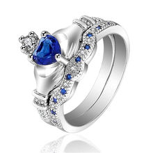 Модное роскошное кольцо в форме сердца с короной женские обручальные