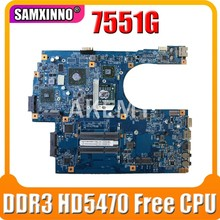 Akemy For Acer aspire 7551 7551G Laptop Motherboard 48.4HP01.011 MBPT801001 MB.PT801.001 DDR3 HD5470 Free CPU(China)
