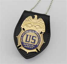Hot US SPECIAL AGENT / DEA Badge DRUG ENFORCEMENT ADMINSTRATION Replica Movie Prop Pin Badge Cosplay Decor New Year Gifts Boys(China)