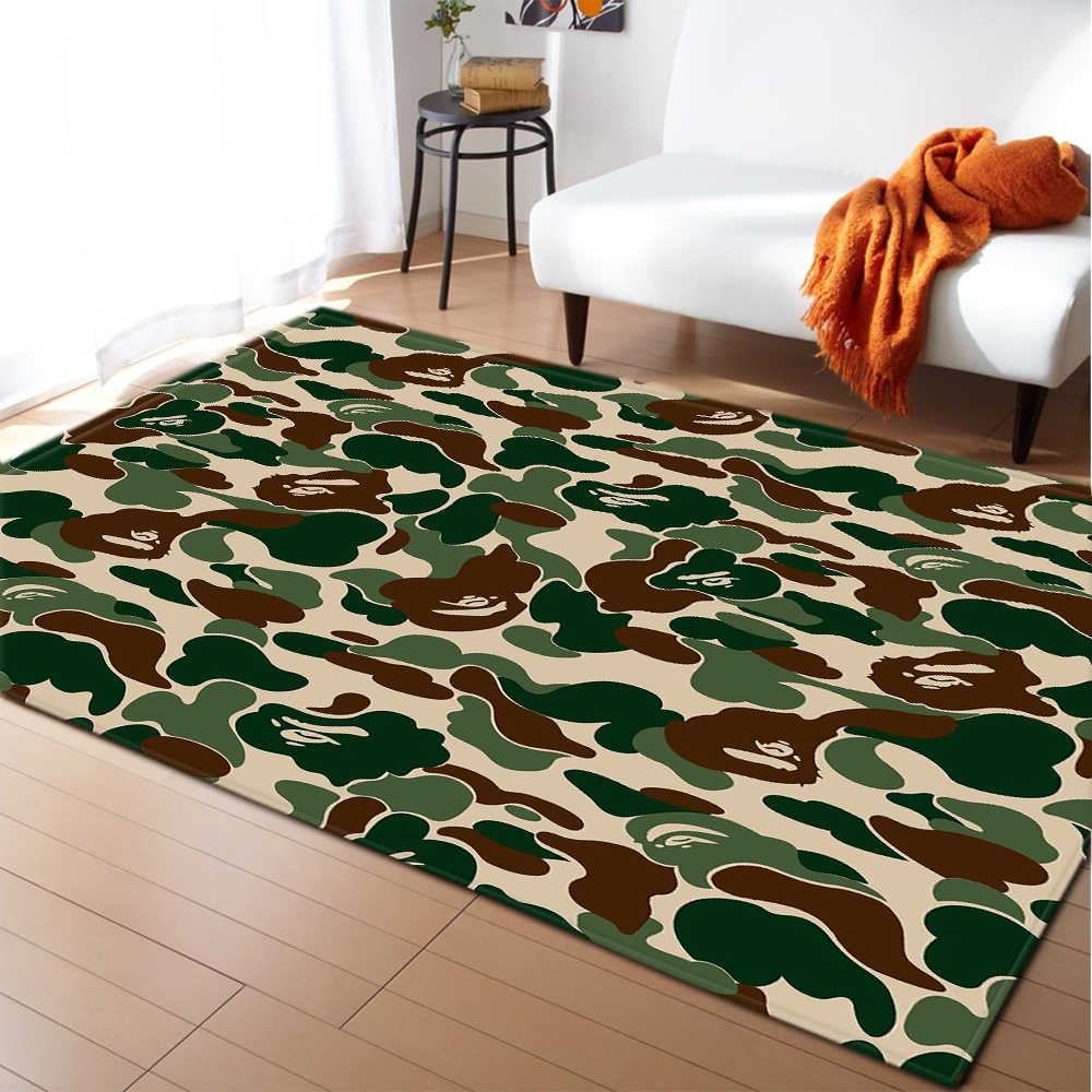 Home Decoration Carpet Area Rugs Flannel Camouflage Boys Bedroom Rug Floor  Carpet Kids Rugs and Carpets for Living Room