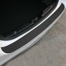 Углеродное волокно заднего бампера протектор Анти-царапать обшивку наклейка для VW Golf 6 автомобильные Внешние аксессуары бутик