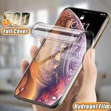 Изогнутый защитный чехол 50D для Iphone Se 2020 6 6S 7 8 Plus, Гидрогелевая пленка для IphoneX XR 11 Pro XS Max, защита экрана