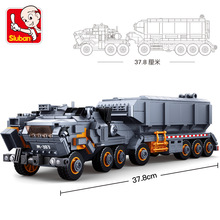 Wandering Earth Transport truck carrier vehicle Car building blocks Legoingly 2 figures Bricks Toy