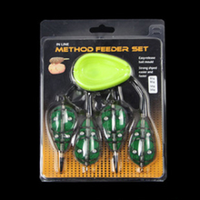 Inline Method Feeders 1pcs Bait Moulding Cap Set Portable Green lead Fishing Lure Cage For Carp Foshing Tackle fishing Tools