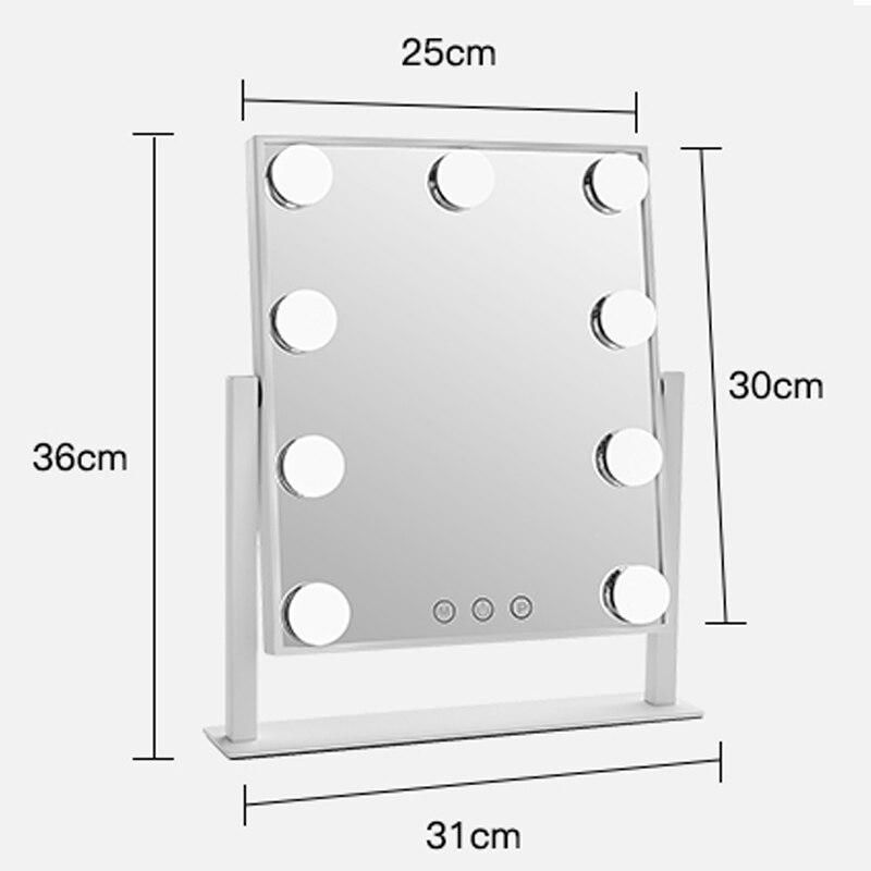 Косметическое зеркало для макияжа с светильник светодиодный 5X 7X 10X увеличение телескопические расширения 2 лицевая сторона Ванная комната ... - 6