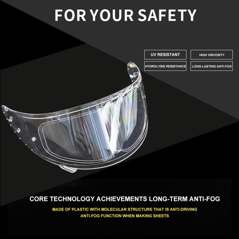 Transparent Motorcycle Helmet Lens Anti Fog Anti-UV Film Ultra Clear Mist Visor Goggles Stickers For Motorcycle Helmetpatch Lens