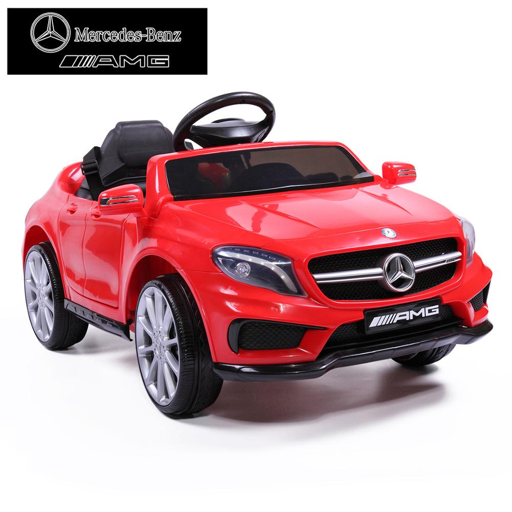 Licensed Mercedes Benz Kids 4-Wheel Soft Seat Ride On Car Toy With Remote Control 12V Power Battery AMG GLA Baby Stroller TY0452