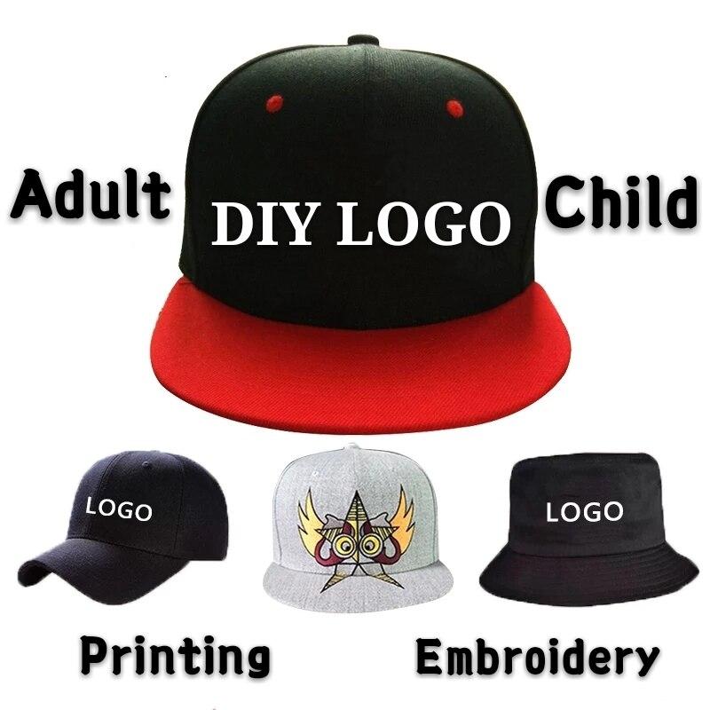 Diy Logo Baseball Cap Custom-made Bucket Hat Child&adult Printing Embroidery Famous Brand Sport Men Women Snapback Wholesale