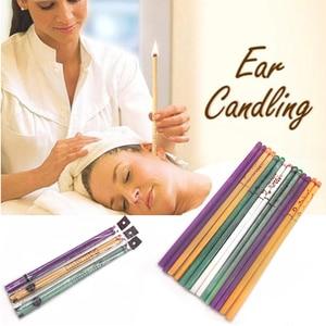 Image 3 - 40 Pcs Coning Bijenwas Natuurlijke Oor Kaars Oorkaarsen Therapie Rechte Stijl Oor Care Thermo Auricular Therapie Face Lift tool