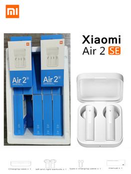 Oryginalny bezprzewodowy zestaw słuchawkowy Bluetooth Xiaomi Air2 SE TWS nowe słuchawki douszne AirDots Mi 2SE dotykowy zestaw słuchawkowy 2SE z mikrofonem tanie i dobre opinie Zaczepiane na uchu Dynamiczny CN (pochodzenie) Prawdziwie bezprzewodowe 112dB 40mW Do kafejki internetowej Słuchawki do monitora