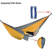 Outdoor Camping Hammock Idyllic Swing Single Double Couple Hammock Light Indoor Outdoor Camping Leisure Activities 270x140cm