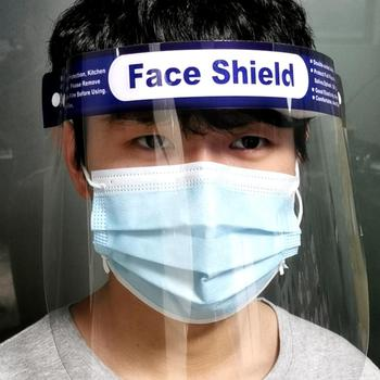 10PCS Face Shield Protection Full Face Protect Anti Saliva PVC Anti Foam Covering Dust-proof Safety Shield Tool Clear Face Mask