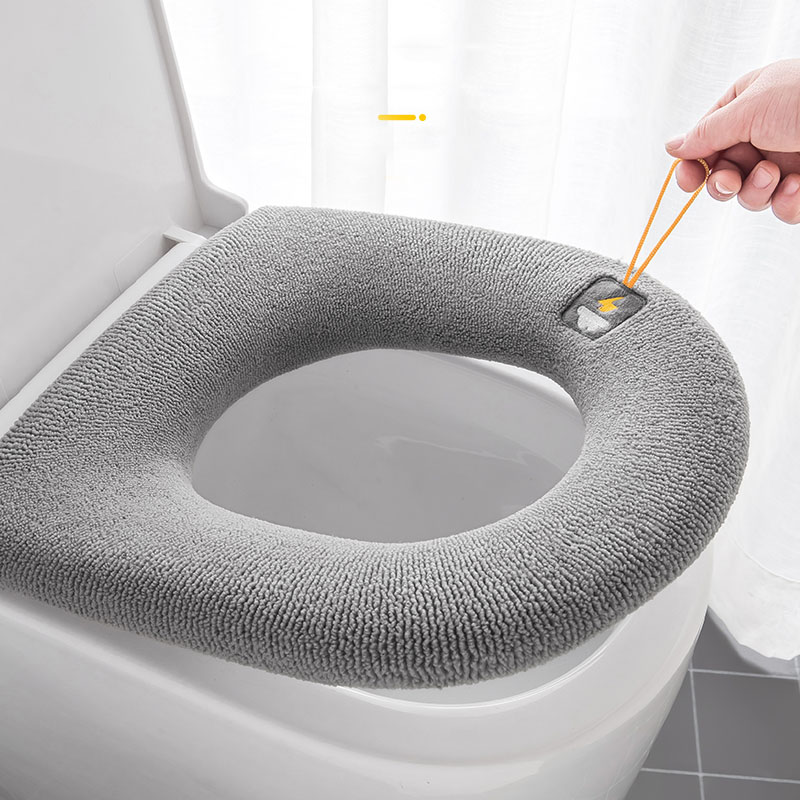 Universal Toilet Seat Cushion Four Seasons Thickened Toilet Cover Knitted Toilet Seat Cushion Washable Household Toilet Ring
