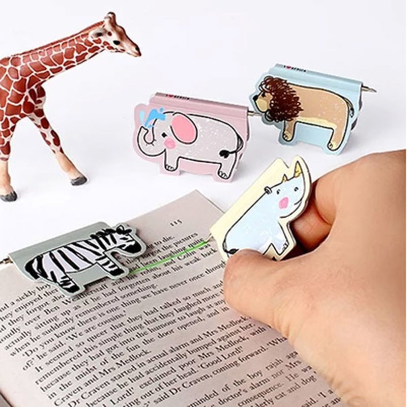 Bird Magnetic Bookmark Animal Ball-point Pen Paper Book Folder Novelty Office Stationery Paper Clip Student Magnet Book Marks