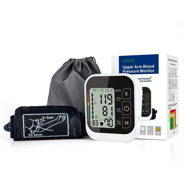 Jziki液晶デジタル自動アーム血圧モニター眼圧計メーター血圧計ポータブルtensiometroカフ健康パートナー