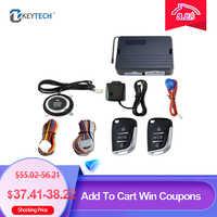 OkeyTech Car SUV Keyless Entry Engine Start Alarm System Push Button Remote Starter Stop Auto Car Alarm Accessories With 2 Keys