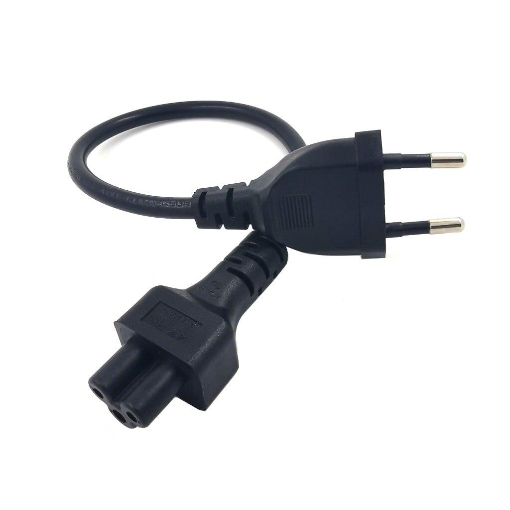 Европейский адаптер питания Шнур кабель 30 см штепсельная вилка европейского стандарта 2-контактный штекер IEC 320 C5 Micky для ноутбука источник п...