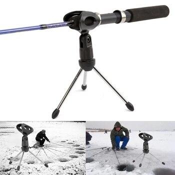 Soporte triangular para caña de pescar en hielo soporte para caña para pesca en hielo soporte para cañas de pescar Mesa trípode plegable para cámara