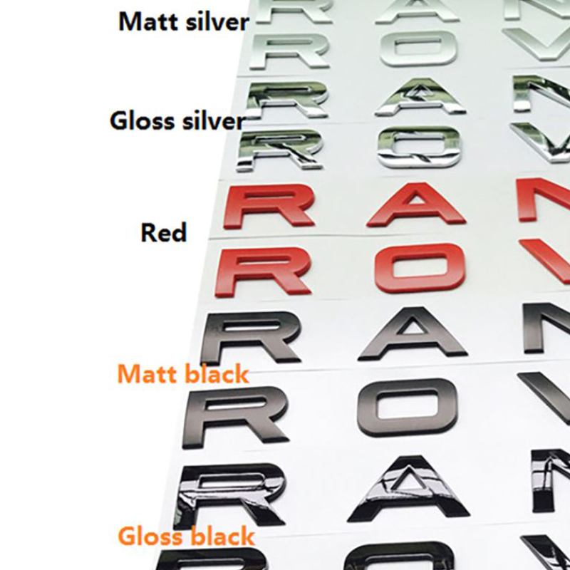 ABS Chrome Car Styling Trunk Logo Letters Emblem Badge Sticker Cover For Range Rover Sport Evoque