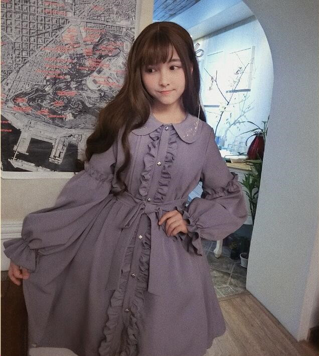 Robe lolita douce kawaii fille vintage dentelle col claudine broderie robe victorienne palace gothique lolita op loli cosplay