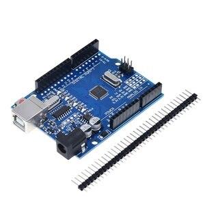 Image 4 - TZT UNO R3 geliştirme kurulu ATmega328P CH340 CH340G Arduino UNO için R3 düz Pin başlığı ile kablo