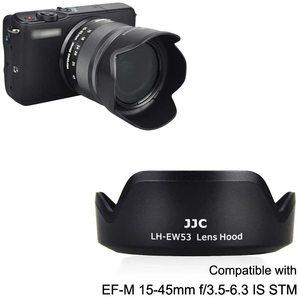 Image 4 - EW 53 geri dönüşümlü Lens Hood gölge Canon EF M 15 45mm F3.5 6.3 is STM Lens EOS M5 M6 mark II M50 Mark II M50 M200 M100 M10