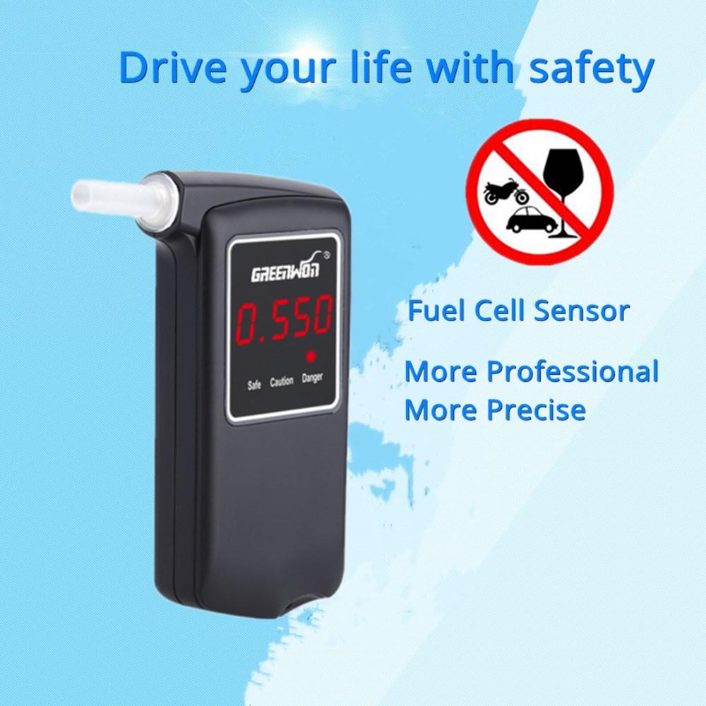 GREENWON Prefessional High Accuracy Electrochemistry Digital Breath Alcohol Tester Breathalyzer