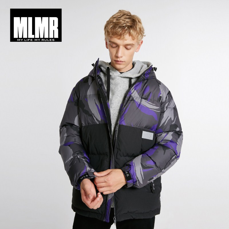 JackJones Men's Winter Camouflage Stitching Hooded Fashion Down Jacket  218412519